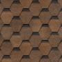 битумная-черепица-деке-карат ЦВЕТ-коричневый