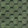 битумная-черепица-деке-карат ЦВЕТ-зеленый