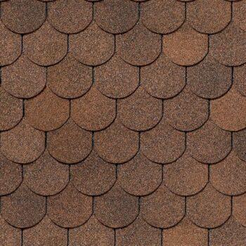 битумная-черепица-деке-купол ЦВЕТ-коричневый