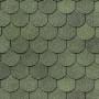битумная-черепица-деке-купол ЦВЕТ-зеленый